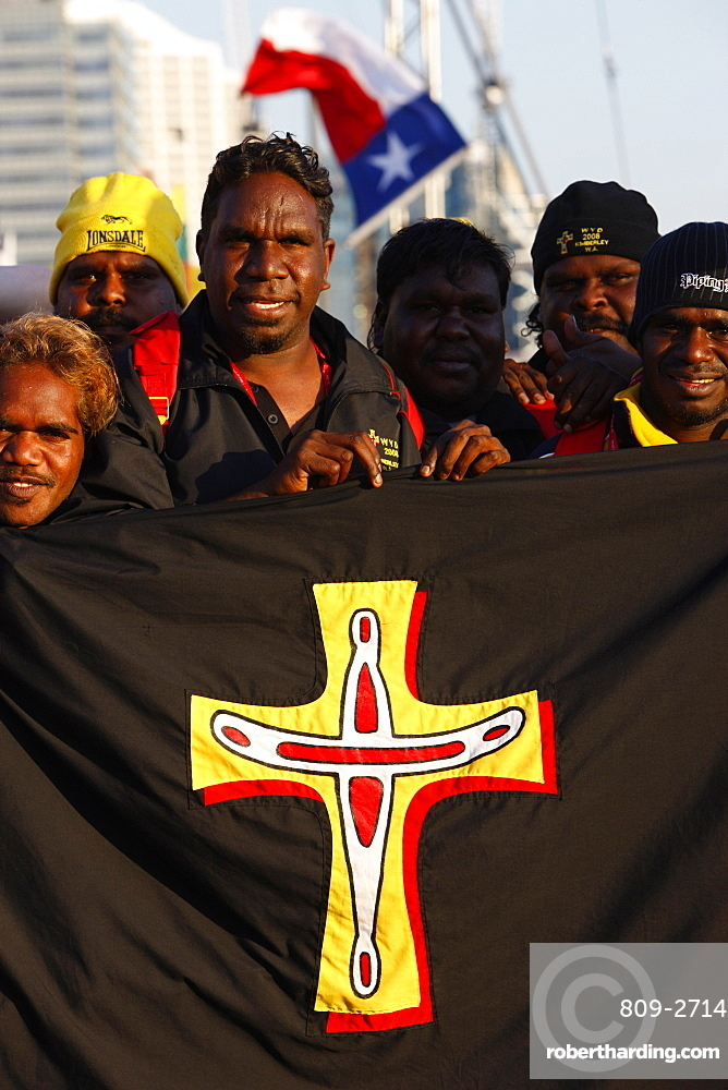 Aboriginal Catholics during the World Youth Day in Sydney, New South Wales, Australia, Pacific
