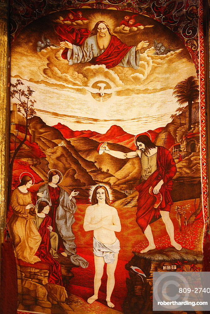 Icon of the Baptism of Jesus in St. Mary's church, Elbassan, Albania, Europe