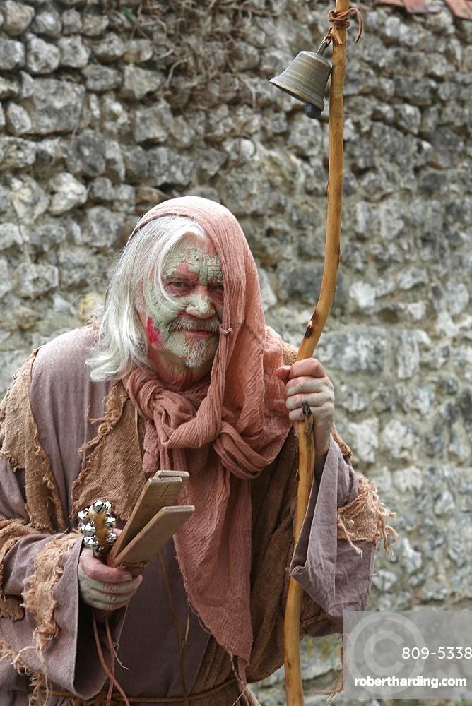 The village of the leprous, medieval festival of Provins, UNESCO World Heritage Site, Seine-et-Marne, Ile-de-France, France, Europe