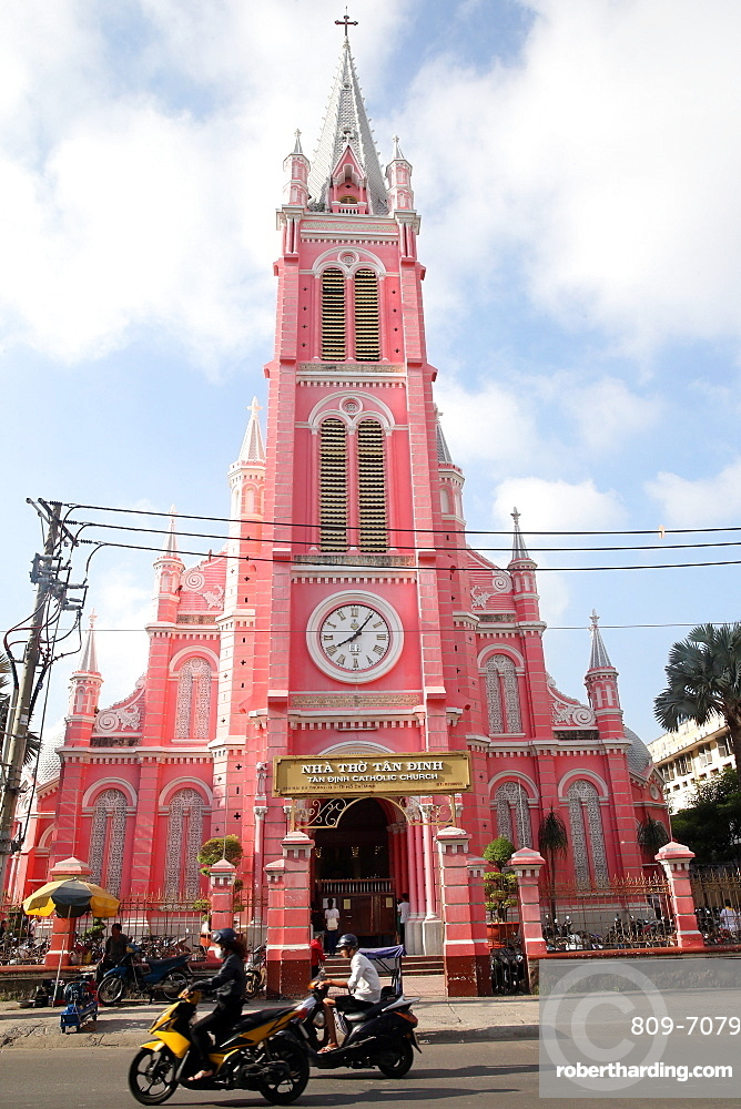 Church of the Sacred Heart of Jesus (Nha Tho Tan Dinh), Ho Chi Minh City, Vietnam, Indochina, Southeast Asia, Asia
