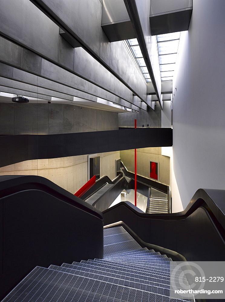 The MAXXI, National Museum of 21st Century Arts, architect Zaha Hadid, Rome, Lazio, Italy, Europe