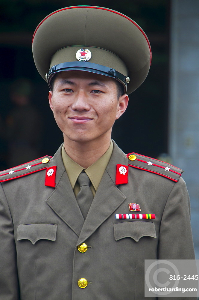 Friendly north Korean soldier, Pammunjon, North Korea, Asia