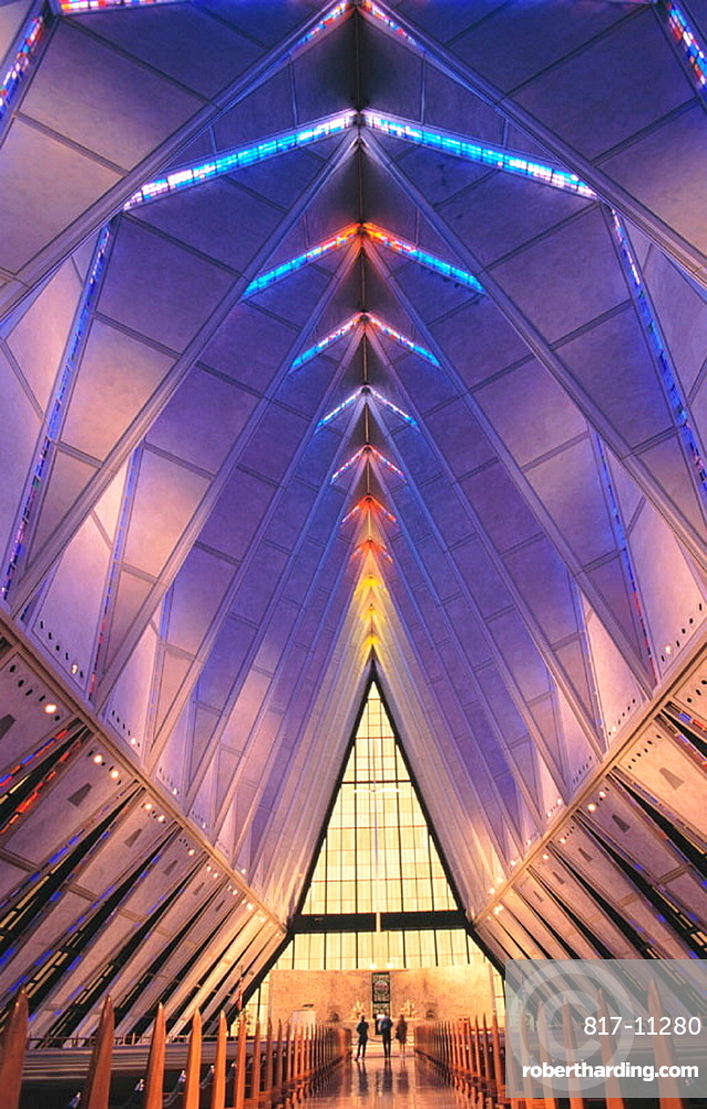 Air Force Academy Chapel, interior, Colorado Springs, USA