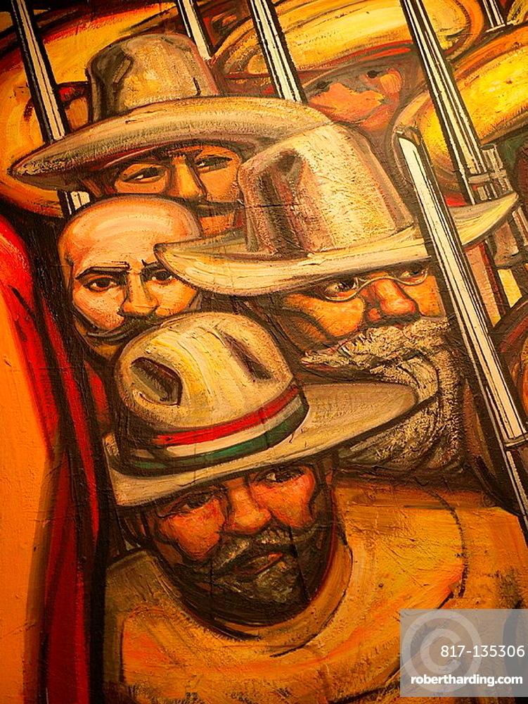 Castillo de Chapultepec Mural Paintings, Ciudad de Mexico