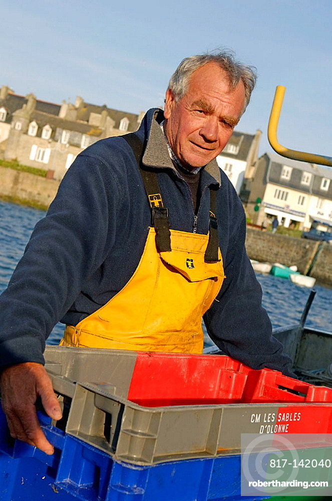 Mr Pierre Feat, fisherman, Roscoff Harbour, North Finistere, Brittany, France