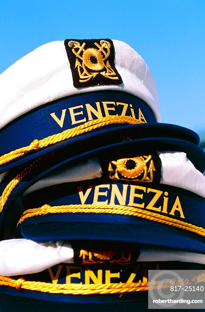 Souvenir caps for sale, Venice, Italy