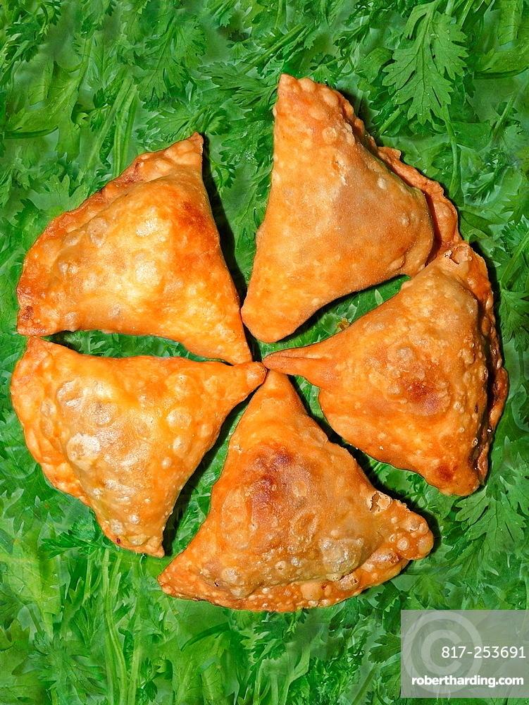 Vegetarian snacks, Samosa, India