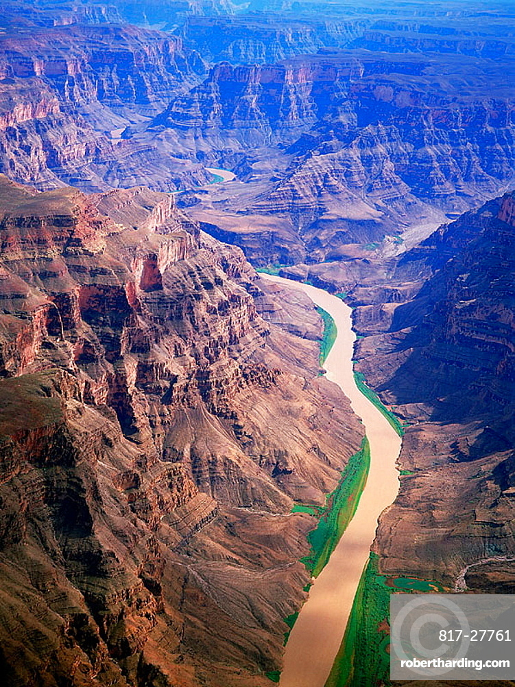 Aerial view on Colorado river, | Stock Photo