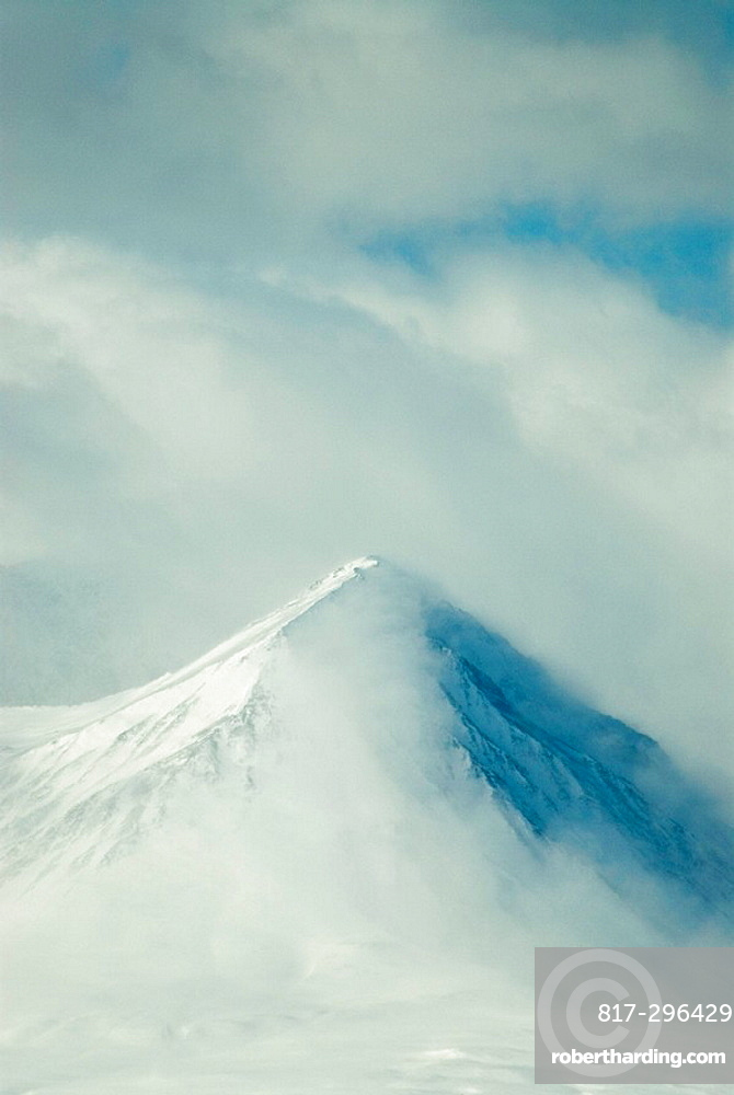 Chugach Mountains, landscape, mountain, mountains, fog, clouds, snow, USA, America, United States, North America, Alas. Chugach Mountains, landscape, mountain, mountains, fog, clouds, snow, USA, America, United States, North America, Alas