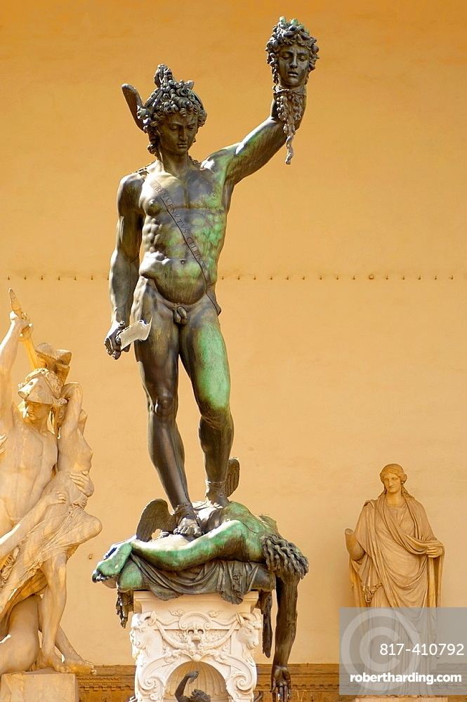 Statue Of Perseus With The Stock Photo
