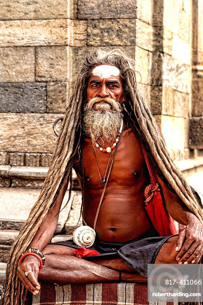 Religious man in Katmandu Nepal