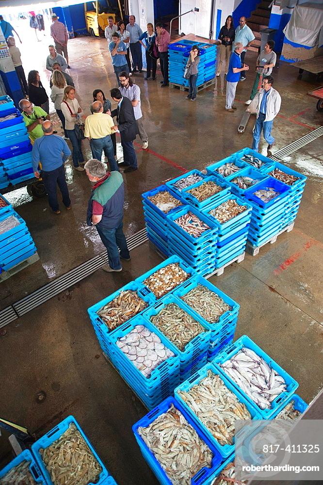 Inside the fish market Calpe Alicante
