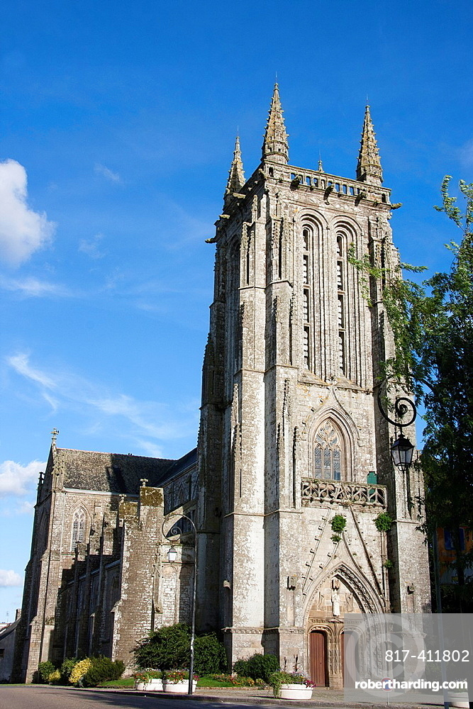 Church of Carhaix center Finistere, Brittany, France