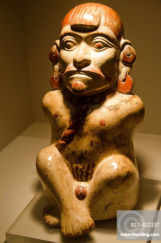 Ceramic vessel, depicting prisoner of war Moche culture 100 AC-800 AC Peru