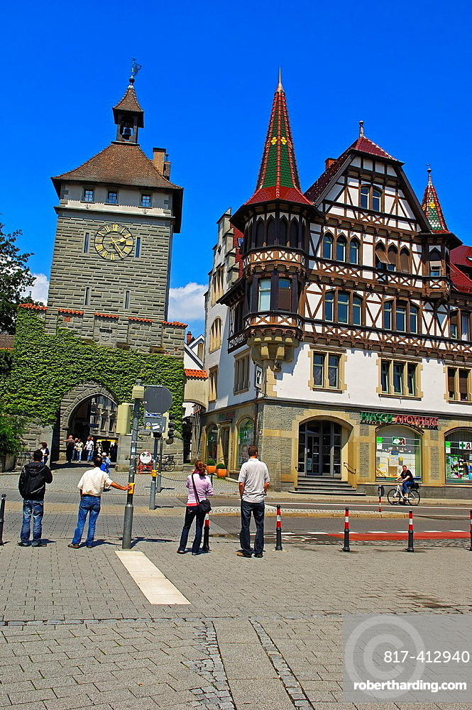 Konstanz, Constance, Schnetztor, town gate, Bodensee, Lake constance, Baden-Wuerttemberg, Germany, Europe.