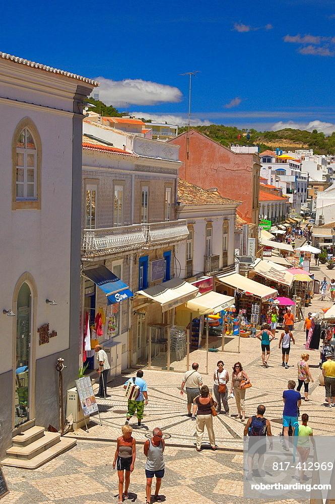 Albufeira, Old Town, Algarve, Portugal, Europe.
