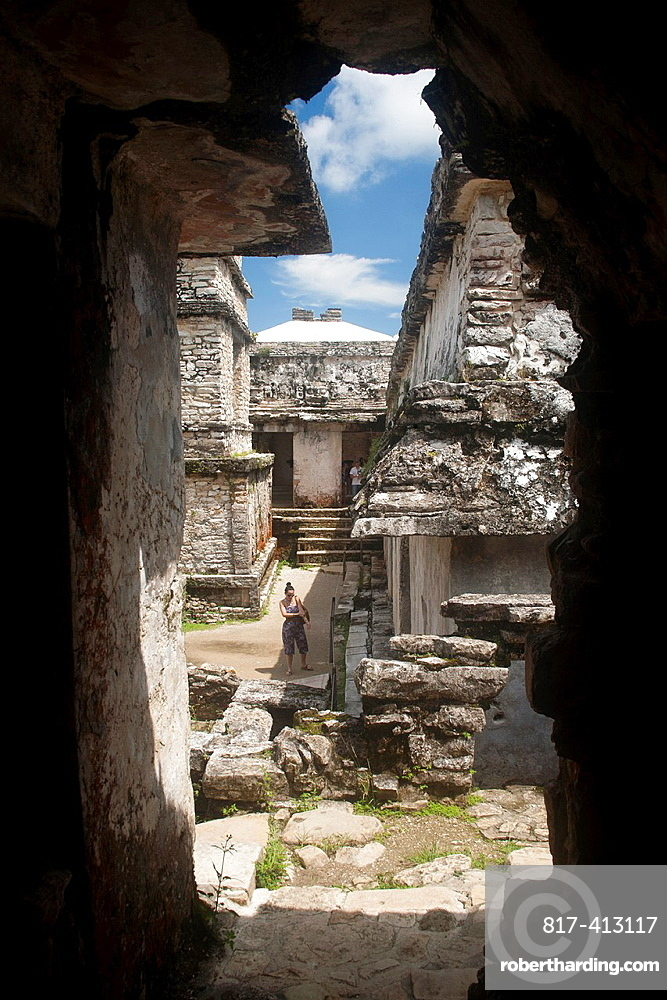Archeological site Palenque, Chiapas, Mexico
