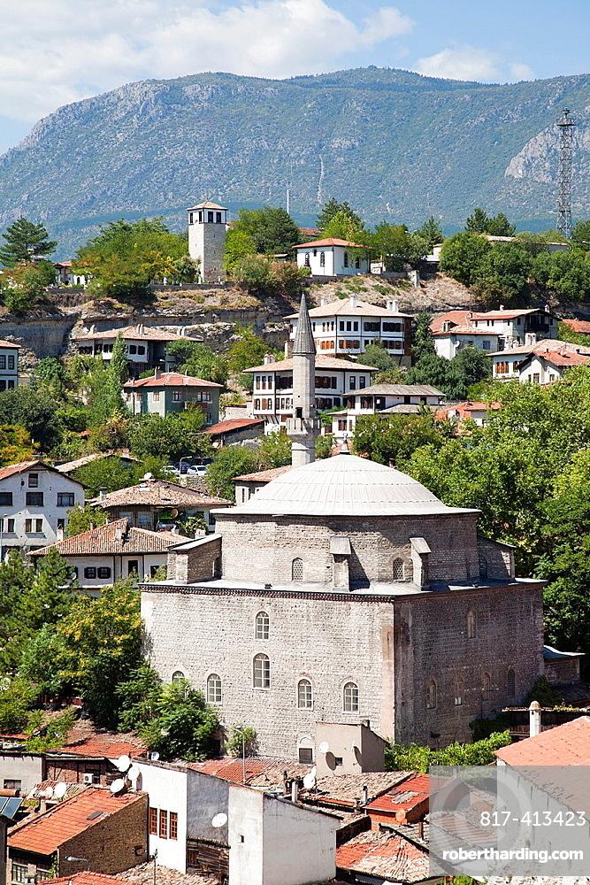 Asia, Turkey, Central Anatolia, Ancient Town Of Safranbolu, View With Koprulu Mehmet Camii
