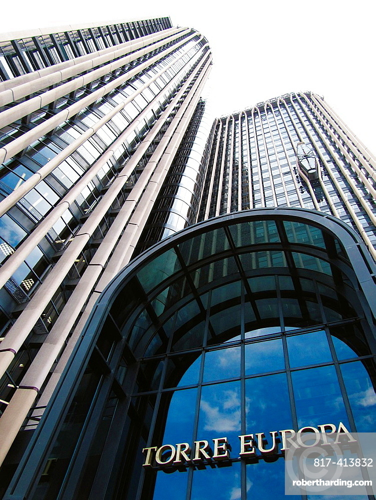 Europa Tower, Azca financial district, Madrid Spain.