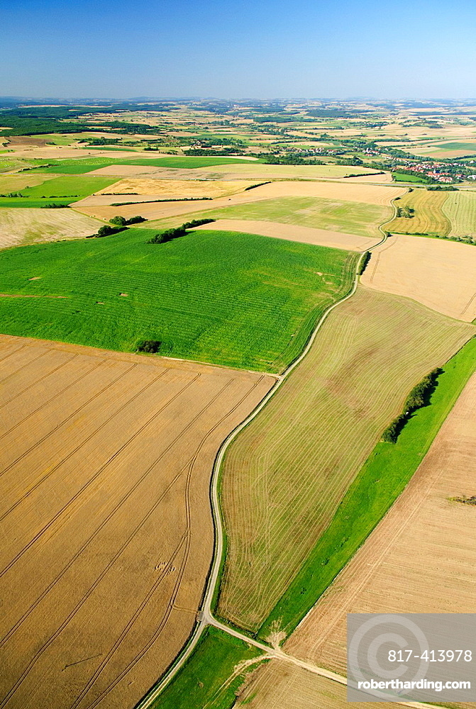 Countryside meadows near Rimling, Moselle, Lorraine, France