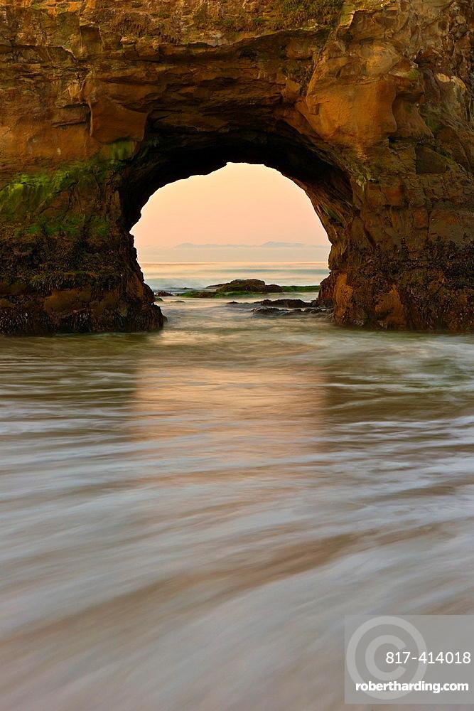 Detail of the arch at Natural Bridges State Park, Santa Cruz, CA