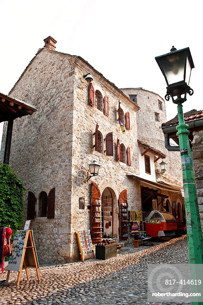 Street in Old Town, Mostar, Bosnia and Herzegovina