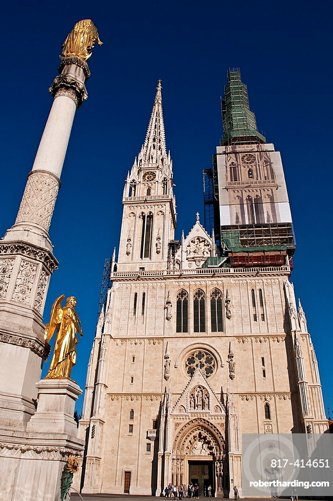 Cathedral of the Assumption of St Mary and Column of Holy Mary, Kaptol, Zagreb, Croatia