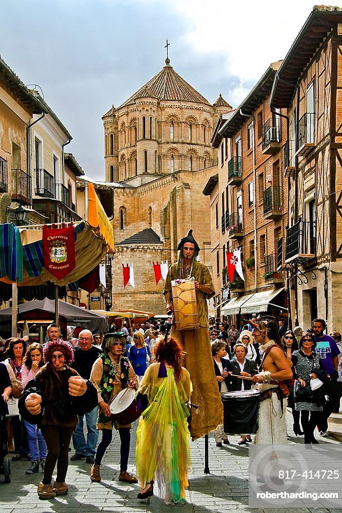 Wine festivity, street perfomances at Toro, Zamora, Castile and Leon, Spain