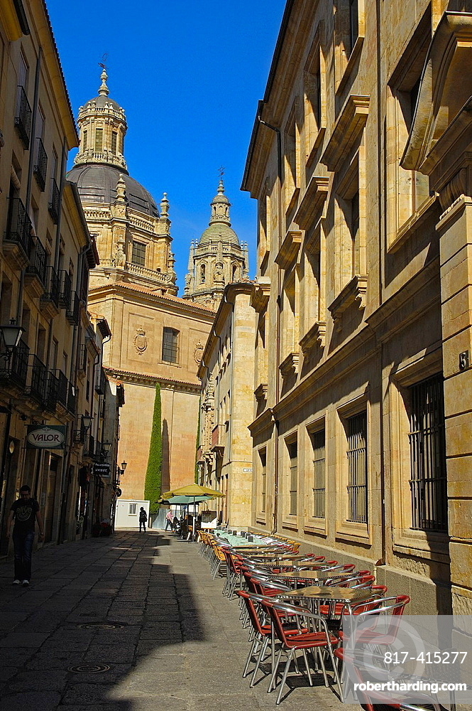 Salamanca, Calle de los Libreros Via de la Plata, Libreros street, Castilla-Leon, Spain.