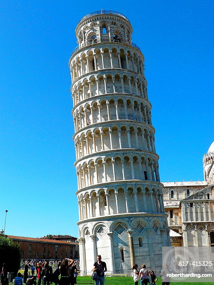 Pisa Italy Leaning Tower of Pisa in the Square of Miracles in Pisa