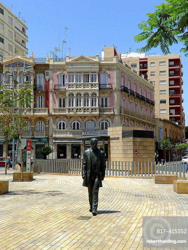 Almeria Spain Nicolas Salmeron sculpture in the center of Almeria
