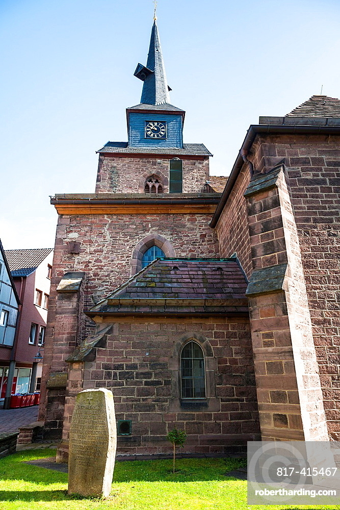 St. Nicolai church in Bodenwerder on the German Fairy Tale Route, Lower Saxony, Germany, Europe