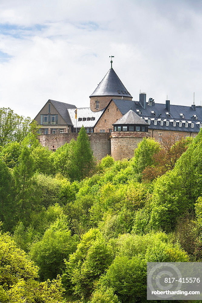 The historic Waldeck castle, Hesse, Germany, Europe