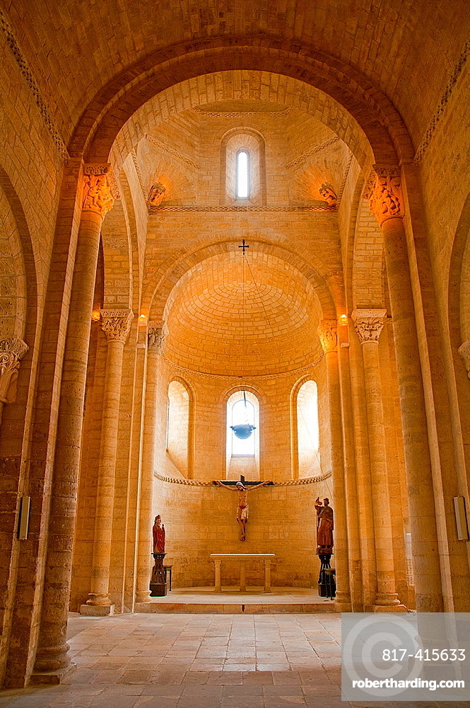 San Martin church, indoor view. Fromista, Palencia province, Castilla Leon, Spain.