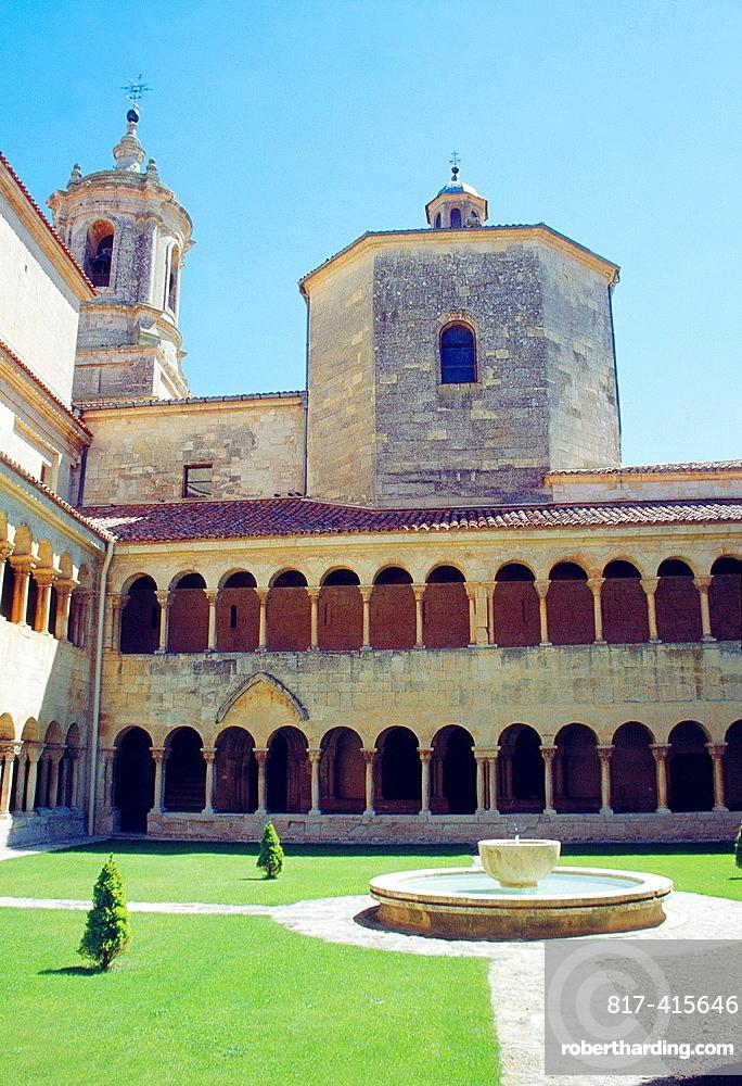 Cloister. Monastery of Santo Domingo de Silos, Burgos province, Castilla Leon, Spain.