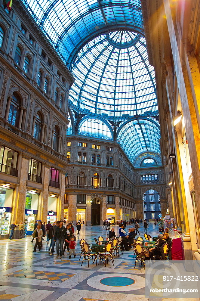 Galleria Umberto I 1900 shopping arcade central Naples city La Campania region southern Italy Europe