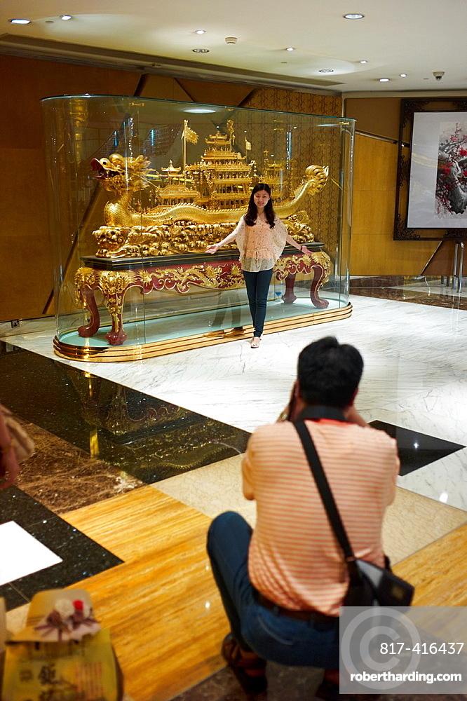 Tourists at The Venetian Hotel in Macau, China