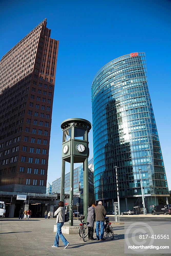 Postdamer Platz square, of the thirties was the busiest urban area in Europe In this square the first traffic light was put in Berlin, Germany, Europe