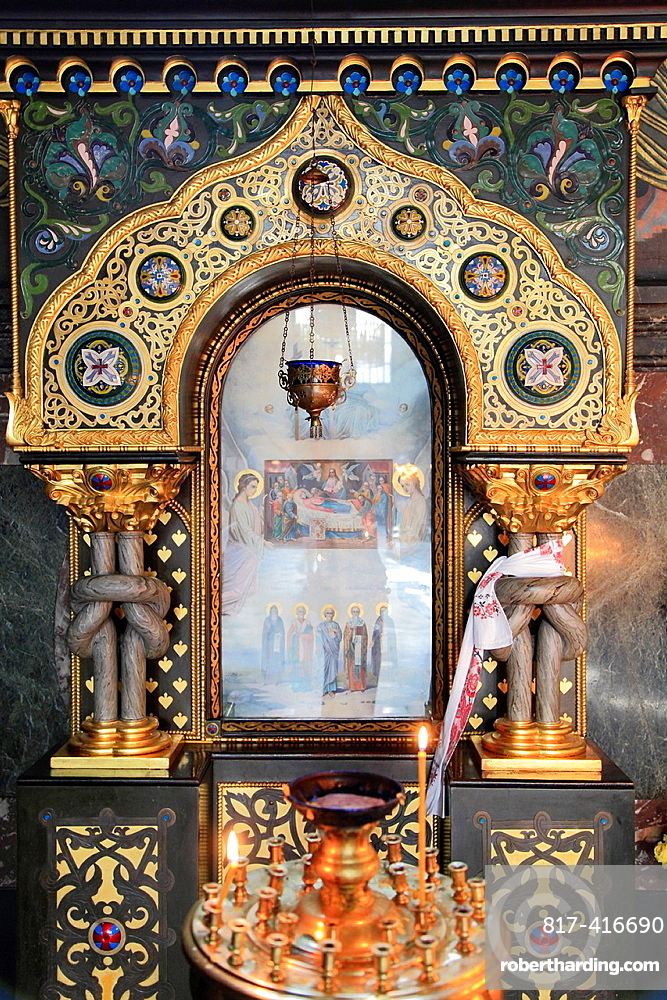 Ukraine, Kiev, Kyiv, St Volodymyrs Cathedral, interior,