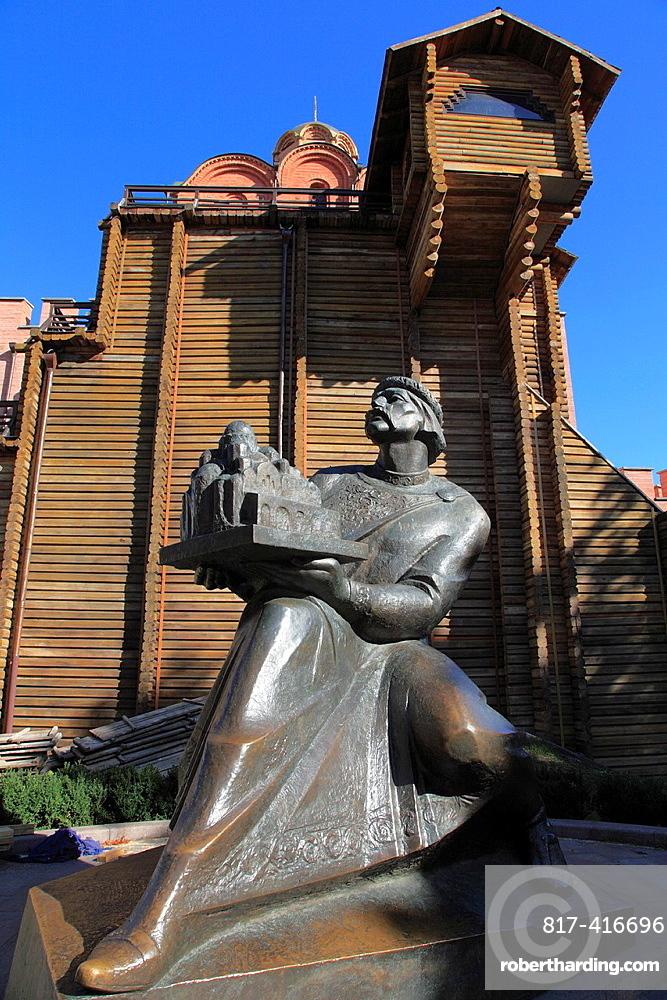 Ukraine, Kiev, Kyiv, Golden Gate, Zoloti Vorota, Yaroslav statue,