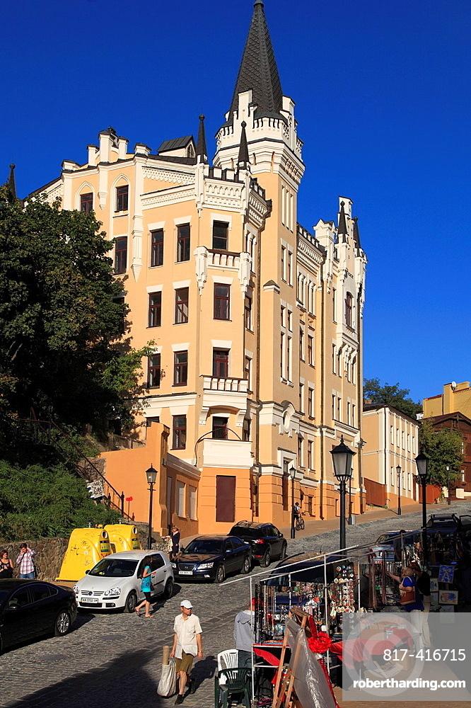 Ukraine, Kiev, Kyiv, Andriivsky descent, Richard the Lionhearts Castle,