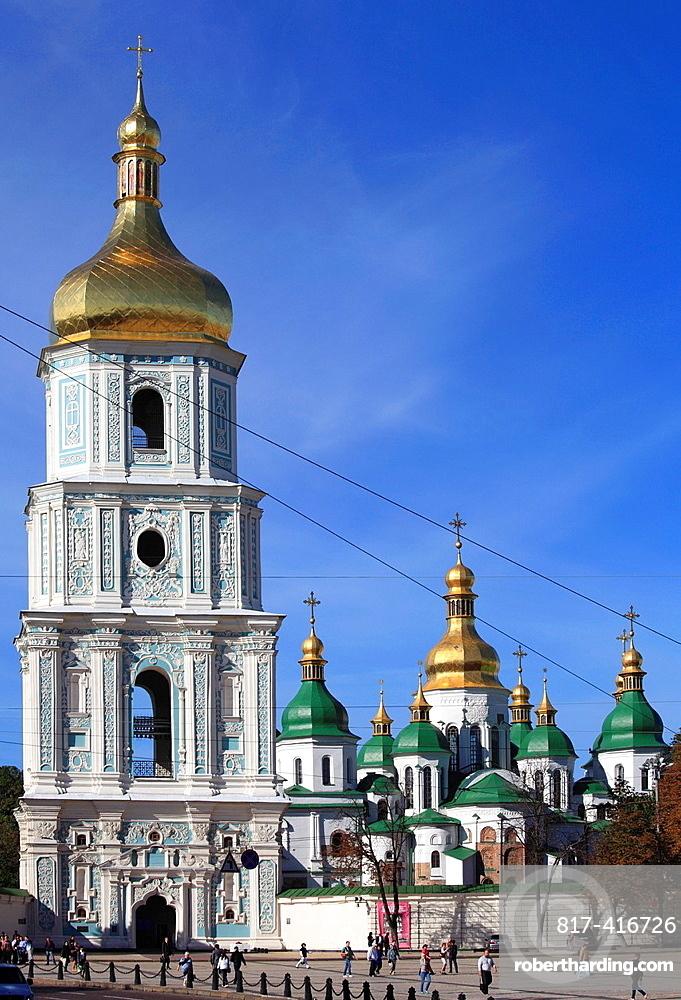 Ukraine, Kiev, Kyiv, St Sophias Cathedral, Bell Tower,