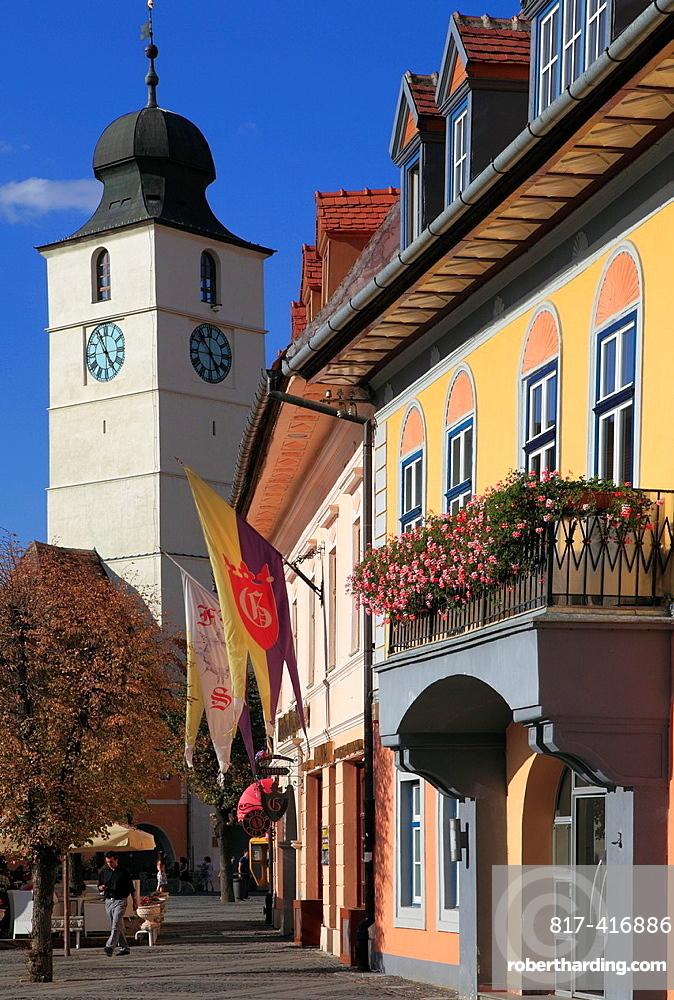 Romania, Sibiu, Piata Mare, Council Tower,