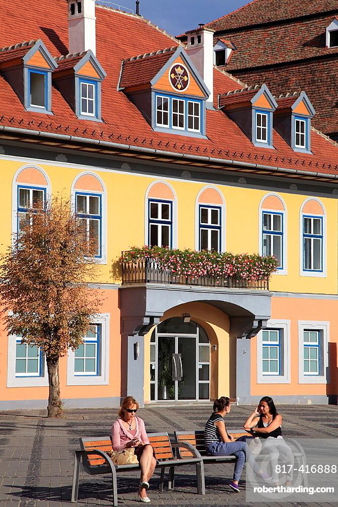 Romania, Sibiu, Piata Mare, Casa Lutsch,