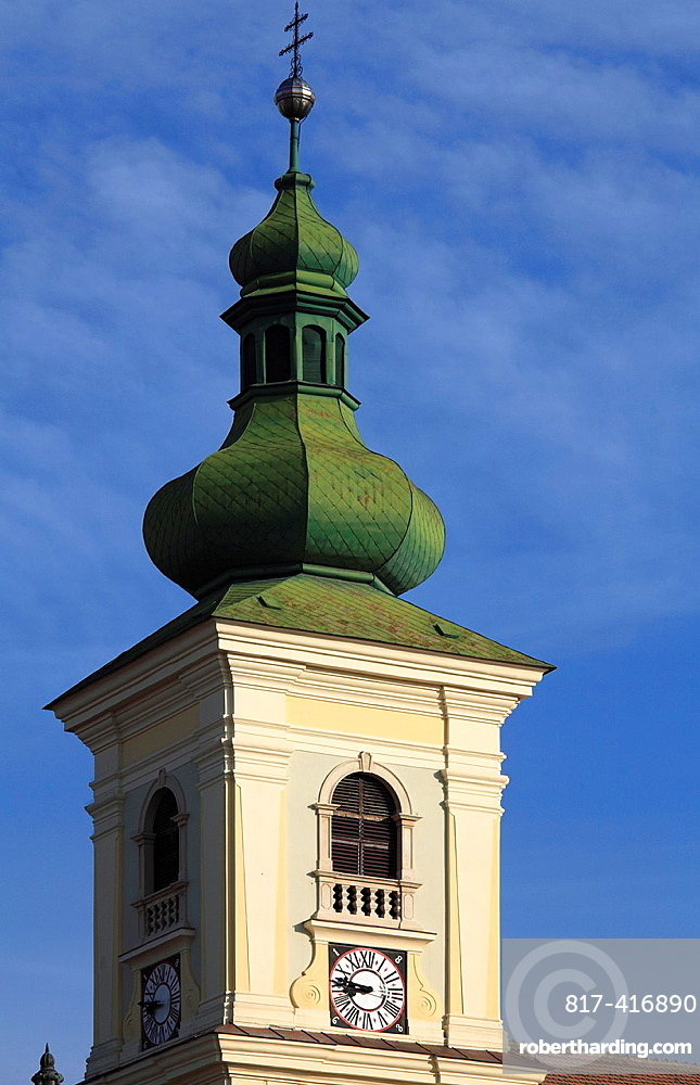 Romania, Sibiu, Piata Mare, Holy Trinity Catholic Church,
