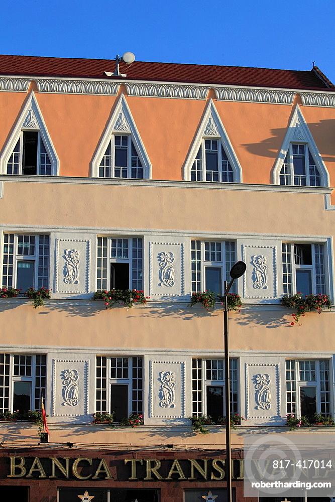 Romania, Cluj-Napoca, Banca Transilvania, historic architecture,