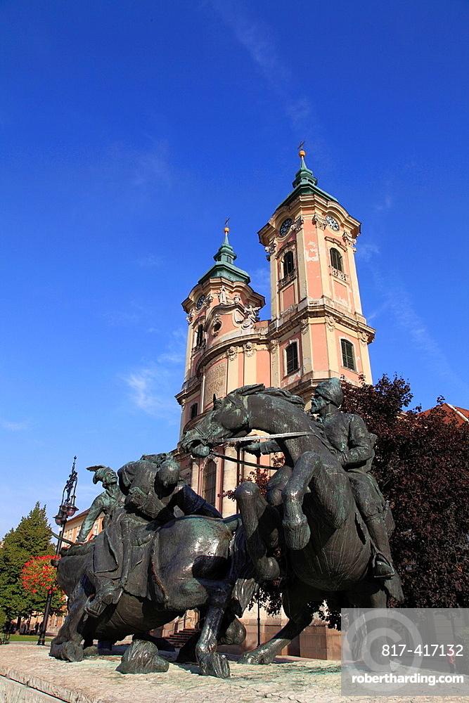 Hungary, Eger, Friar Minors Church, Border Warriors Monument,