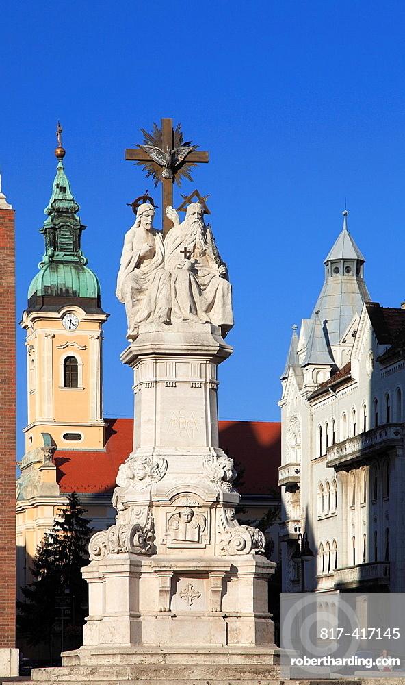Hungary, Szeged, Serbian Orthodox Church, Holy Trinity Column,