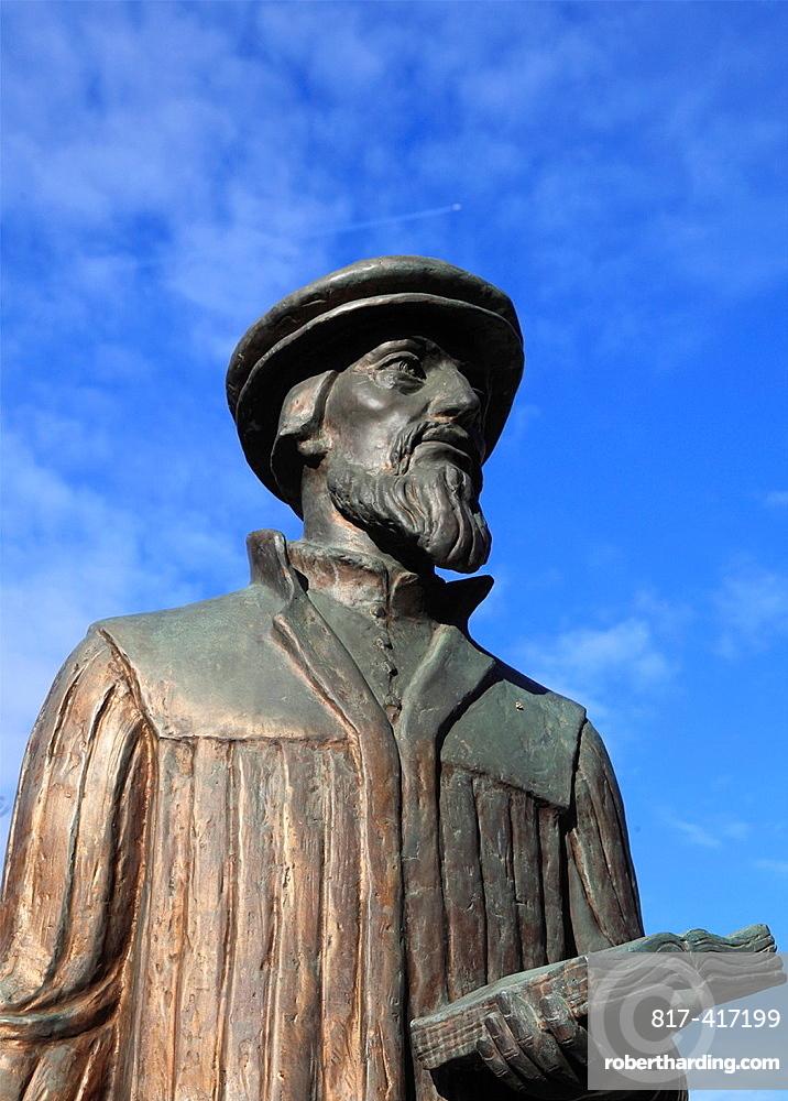 Hungary, Budapest, John Calvin statue,
