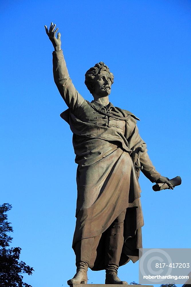 Hungary, Budapest, poet Sandor Petofi statue,